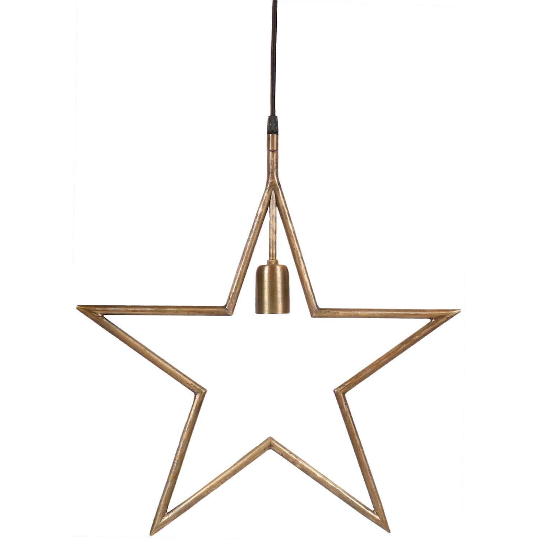 PR Home Tindra star Råmässing 45cm
