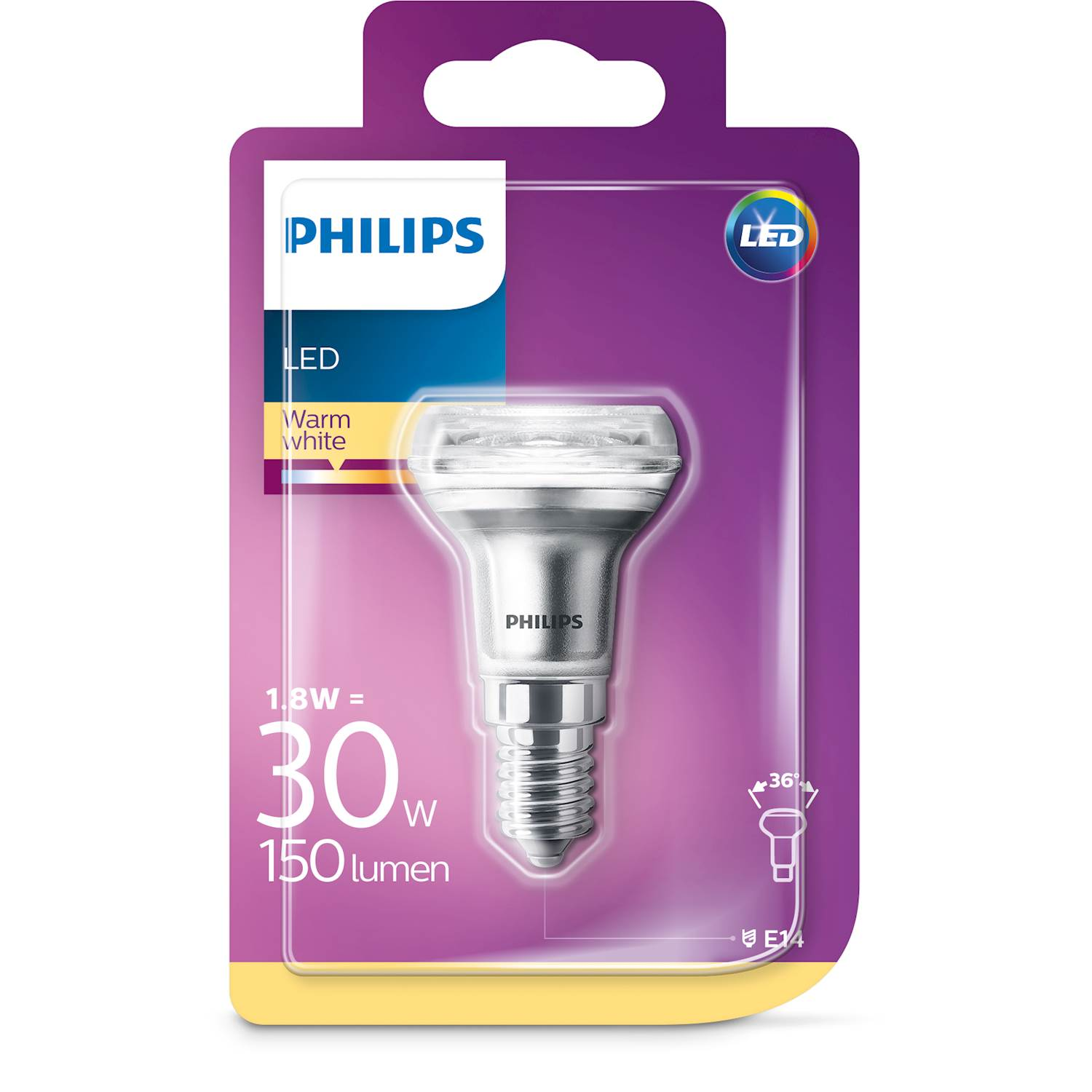 Philips LED REFL 30W E14 VV 36D ND