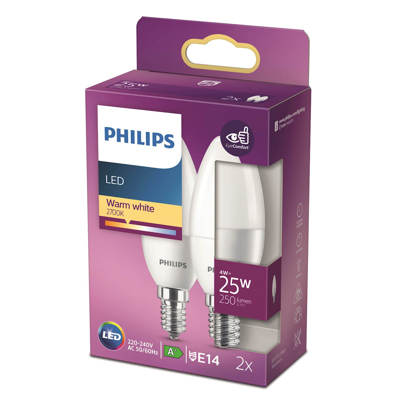 Philips LED 25w kron e14 frost 2p